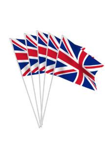 drapeau union jack, drapeaux de table, drapeau anglais, Drapeau Anglais Union Jack x 10, Drapeaux de Table