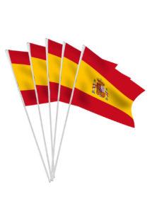 drapeau Espagne, drapeau espagnol, drapeau de supporter, drapeau coupe du monde, drapeau euro, Drapeau de l'Espagne x 10, Drapeaux de Table