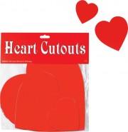 coeurs rouges saint valentin, déco saint valentin Coeurs Rouges, Cut Out