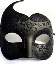 masque vénitien, loup vénitien, masque carnaval de venise, véritable masque vénitien, accessoire carnaval de venise, déguisement carnaval de venise, loup vénitien fait main Vénitien, Hirondelle Noire
