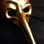 masque vénitien, masque long nez, masque naso, carnaval de venise Vénitien, Naso Or