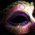 masque vénitien, loup vénitien, masque carnaval de venise, véritable masque vénitien, accessoire carnaval de venise, déguisement carnaval de venise, loup vénitien fait main Vénitien, Iris Déco, Violet