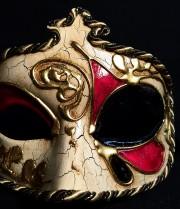 masque vénitien, loup vénitien, masque carnaval de venise, véritable masque vénitien, accessoire carnaval de venise, déguisement carnaval de venise, loup vénitien fait main Vénitien, Civette Kré à Pointe, Rouge