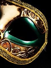 masque vénitien, loup vénitien, masque carnaval de venise, véritable masque vénitien, accessoire carnaval de venise, déguisement carnaval de venise, loup vénitien fait main Vénitien, Civette Décor, Vert et Or