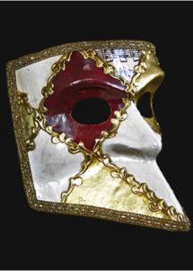 masque vénitien, masque carnaval de venise, masque vénitien bauta, loup vénitien fait main, Vénitien, Bauta Cera, Musica Blanc