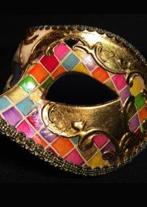 masque vénitien, loup vénitien, masque carnaval de venise, masque vénitien fait à la main, Vénitien, Civette Mosaïque, Multicolore