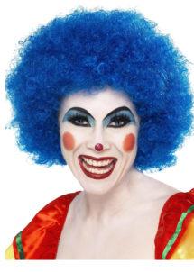 perruque clown rouge, perruque de clown femme, perruque afro bleue, Perruque de Clown Bleue
