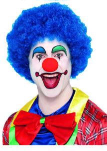 perruque clown, perruque de clown bleue, perruque bleue, perruque frisée, Perruque de Clown Circus, Bleue