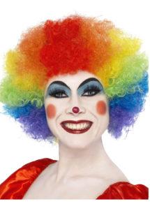 perruque clown rouge, perruque de clown femme, perruque afro multicolore, Perruque de Clown Multicolore