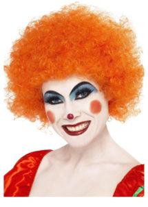 perruque clown rouge, perruque de clown femme, perruque afro orange, Perruque de Clown Orange