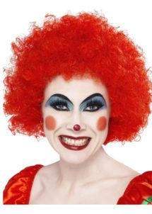 perruque clown rouge, perruque de clown femme, perruque afro rouge, Perruque de Clown Rouge