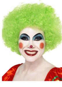 perruque clown rouge, perruque de clown femme, perruque afro verte, Perruque de Clown Verte
