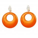 boucles d'oreilles oranges, bijoux disco, bijoux fluo, bijoux années 80, bijoux pour déguisements, accessoires fluos, accessoires années 80, collier disco, bijoux plastique fluo pas cher Boucles d'Oreilles Années 80, Oranges