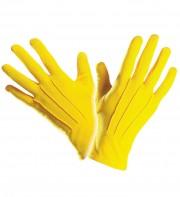 gants jaunes, gants de clown, gants de couleur, gants déguisement, accessoire gants déguisements, gants homme déguisement Gants Courts, Jaunes