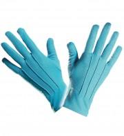 gants bleus, gants de couleur, gants bleus déguisement, gants pour adulte, gants de déguisement, accessoires gants déguisement, gants déguisement, gants homme déguisement Gants Courts, Bleus