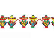 guirlande mexicaine, guirlande chanteurs mexicains, guirlandes sombreros Guirlande Mexicaine