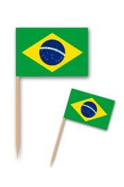 pics à apéro drapeau du brésil, pics drapeaux brésiliens Pics Drapeaux du Brésil