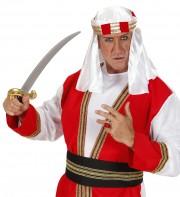 turbans oriental, turbans arabes, coiffes arabes paris, coiffes orientales, déguisement de sheik arabe Turban Arabe, Orné Rouge et Or