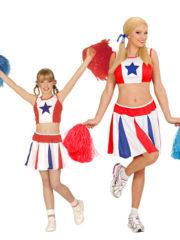 déguisements duos, déguisements pompom girl, déguisements cheerleader fille Déguisement Couple Cheerleader Star, Mère et Fille
