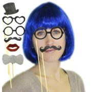 kit Photo Booth, moustaches pour photos, accessoire déguisement photos, accessoires déguisements Kit Photo Booth, Photo Fun, Paillettes