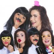 kit Photo Booth , moustaches pour photos, accessoire déguisement photos, accessoires déguisements Kit Photo Booth, Accessoires Néon