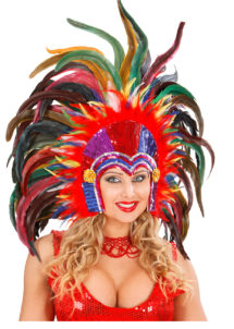 coiffe brésilienne, accessoire carnaval de rio, coiffe de carnaval, coiffure brésilienne, accessoire déguisement, déguisement brésilienne, coiffe brésilienne à plumes, Coiffe Brésilienne, Rio