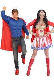 déguisements couples, déguisements super héros, déguisement à deux, déguisement couple de super héros Déguisement Couple Comme des Super Héros
