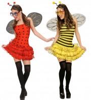 déguisement couple, abeille et coccinelle Abeille et Coccinelle