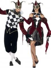 déguisement couple, déguisements arlequins Arlequin et Arlequine Gothiques
