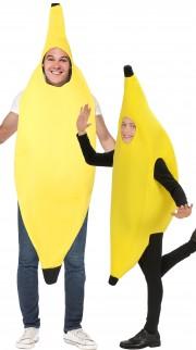 déguisements duos, déguisements de banane adulte, déguisement de banane enfant Banane et Banane Kid
