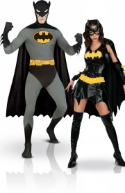 déguisements couples, déguisements batman et batgirl Batman et Batgirl
