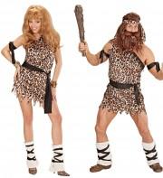 déguisements couples, déguisements homme et femme des cavernes Homme et Femme des Cavernes