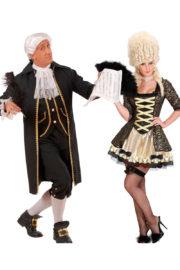 déguisements couples, déguisements marquis hommes et femmes Déguisement Couple de Compositeur et Reine Baroque