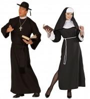 déguisements couples, déguisement curé et bonne soeur Curé et Bonne Soeur