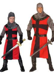 déguisements couples, déguisements chevaliers, déguisements médiéval Déguisement Couple de Chevaliers, Père et Fils