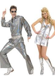 déguisements couples, déguisements disco Déguisement Couple Disco Paillettes Argent