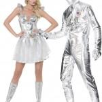 déguisements couples, déguisements futuristes, déguisements cosmonautes, déguisement couple d'astronautes Déguisement Couple d'Astronautes Futur Fever