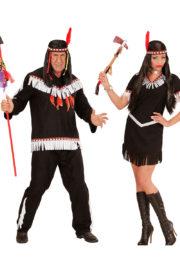 déguisements couples, déguisements d'indiens et d'indiennes, déguisements duos Déguisement Couple d'Indiens Black & White