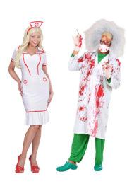 Déguisement Couple, Médecin Fou et Infirmière Déguisement Couple, Médecin Fou et Infirmière