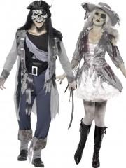 déguisements couples, déguisements duos, déguisements zombies, déguisements halloween Déguisement Couple de Pirates Fantômes