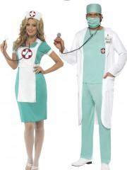 déguisements couples, déguisements infirmière et chirurgien, déguisements duos Déguisement Couple de Chirurgien et Infirmière