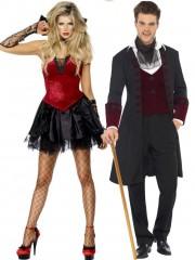 déguisements couples, déguisements de vampire gothique Déguisement Couple de Vampires Gothiques