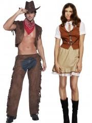 déguisements couples, déguisements cowboys, déguisements western homme et femme Déguisement Couple de Cowboy et Cowgirl