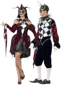 déguisement couple, déguisements arlequins, Déguisements Couple, Arlequins Gothiques