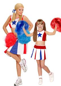 déguisements duos, déguisements pompom girl, déguisements cheerleader fille, Déguisements Couple, Cheerleader Star, Mère et Fille