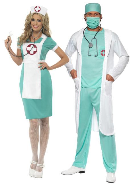 déguisements couples, déguisements infirmière et chirurgien, déguisements duos, Déguisements Couple, Chirurgien et Infirmière