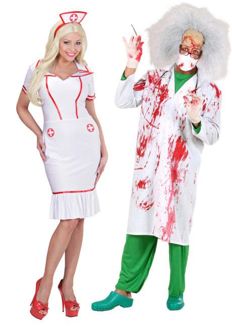 Déguisement Couple, Médecin Fou et Infirmière, Déguisements Couple, Médecin Fou et Infirmière