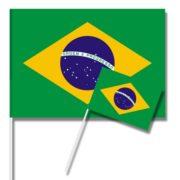 drapeau brésilien, drapeaux de table brésil, drapeaux du brésil, coupe du monde Drapeau de Table x 10, Brésil