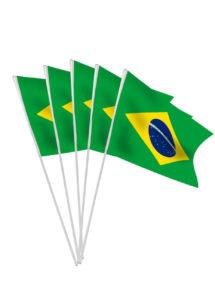 drapeau brésilien, drapeaux de table brésil, drapeaux du brésil, coupe du monde, Drapeau Brésilien x 10, Drapeaux de Table