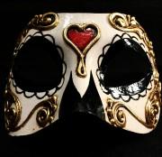 masque vénitien, loup vénitien, masque carnaval de venise, véritable masque vénitien, accessoire carnaval de venise, déguisement carnaval de venise, loup vénitien fait main, masque squelette mexicain, masque de déguisement, masque mexicain halloween, masque déguisement halloween, accessoire déguisement halloween masque, masque en papier maché, masque dia de la muerte, masque halloween jour des morts, déguisement jour des morts halloween, masque jour des morts Vénitien, Colombina Bella Morte, Jour des Morts